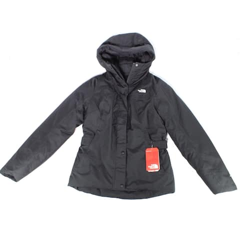 The North Face Women Jacket Black Size Small S Hooded Waterproof Puffer