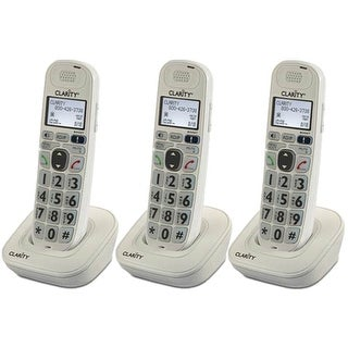 Clarity D702HS 3 pack DECT 6.0 Amplified Caller ID Extra Handset Charger New !