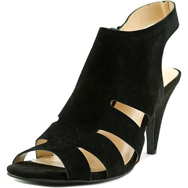 INC International Concepts Giannah Women Open-Toe Suede Black Heels