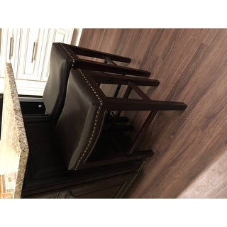 Avondale 26 Inch Brown Bonded Leather Backless Counter