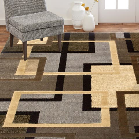 Home Dynamix Tribeca Greene Contemporary Geometric Area Rug
