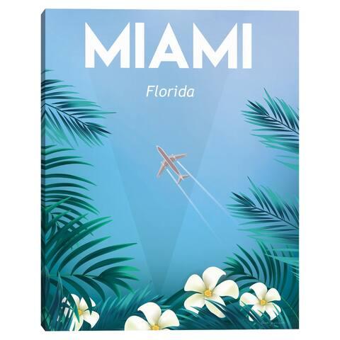 Miami by Omar Escalante Canvas Art Prnt