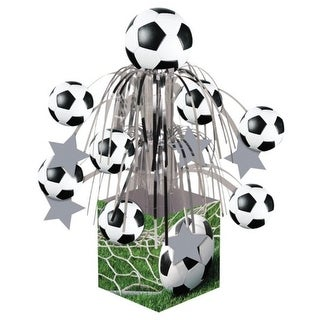 Pack of 6 Soccer Sports Fanatic Mini Cascade Foil Tabletop Centerpiece Party Decorations 8.5""