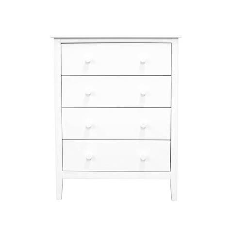 Adeptus Solid Wood Easy Pieces 4 Drawer Chest of Drawers - White