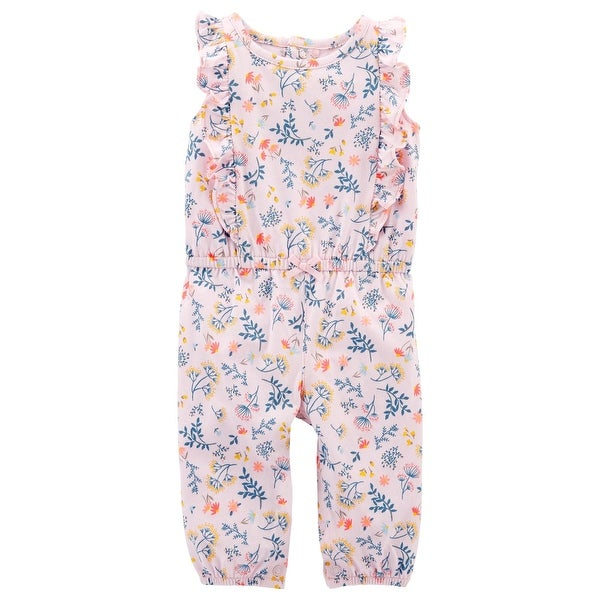 1c6ed0f08967 Shop Carter s Baby Girls  Floral Ruffle Jumpsuit - Free Shipping On ...