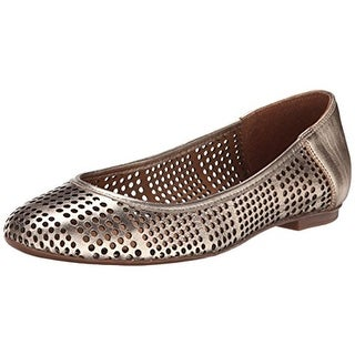 French Sole Womens Naru Ballet Flats Leather Perforated