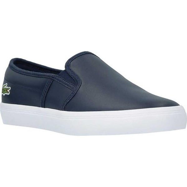 684e4aff50f523 Shop Lacoste Men s Gazon BL 1 Slip-On Navy Leather - On Sale - Free ...