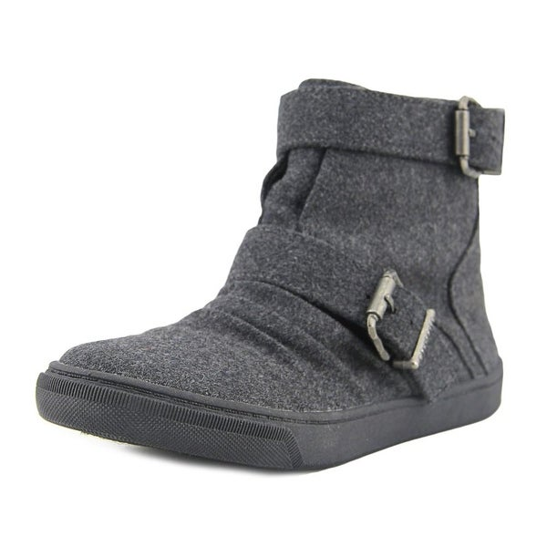 Blowfish Prater Youth Round Toe Canvas Gray Boot