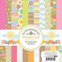 "Hello Sunshine; 12 Designs - Doodlebug Double-Sided Paper Pad 6""X6"" 24/Pkg"