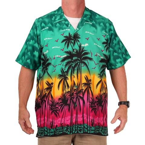 Island Shirtworks Men's Hawaiian Print Shirt