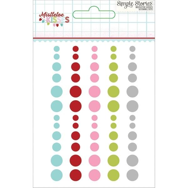 Mistletoe Kisses Enamel Dots Embellishments 60/Pkg-