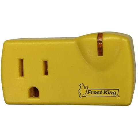 Frost King 099000 Roof Cable Thermostat With One Outlet