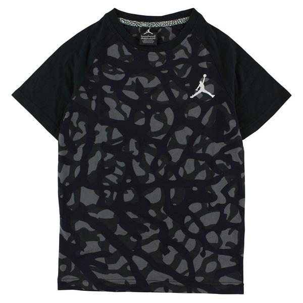 d7b33febc04844 Shop Jordan Boys Camo Elephant Print T Shirt Black - black deep purple grey  - Free Shipping On Orders Over  45 - Overstock - 22613848