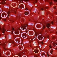 Miyuki Delica Seed Beads 10/0 Opaque Red Luster DBM0214 8 GR