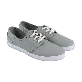 Circa Crip Mens Gray Canvas Lace Up Sneakers Shoes