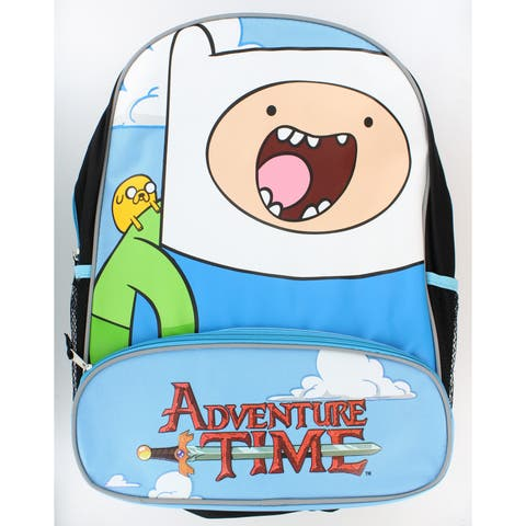 Adventure Time With Finn And Jake Character Backpack - Multi
