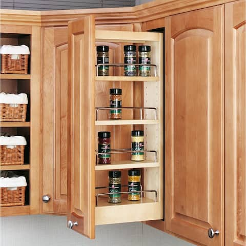 """Rev-A-Shelf 448-WC-5C 448 Series 9"""" Upper Wall Cabinet Pull Out Shelves"""