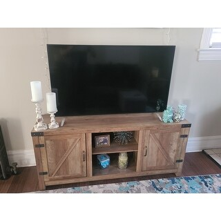 The Gray Barn Firebranch 58-inch Barn Door TV Console