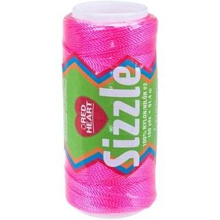 Red Heart Sizzle Crochet Nylon-Bright Pink