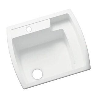 "Sterling 995 Latitude 25"" Single Basin Drop In or Undermount Acrylic Laundry Sin"
