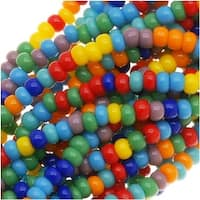 Czech Seed Beads Mix 11/0 'Rainbow Opaque Multi' Mix Lot