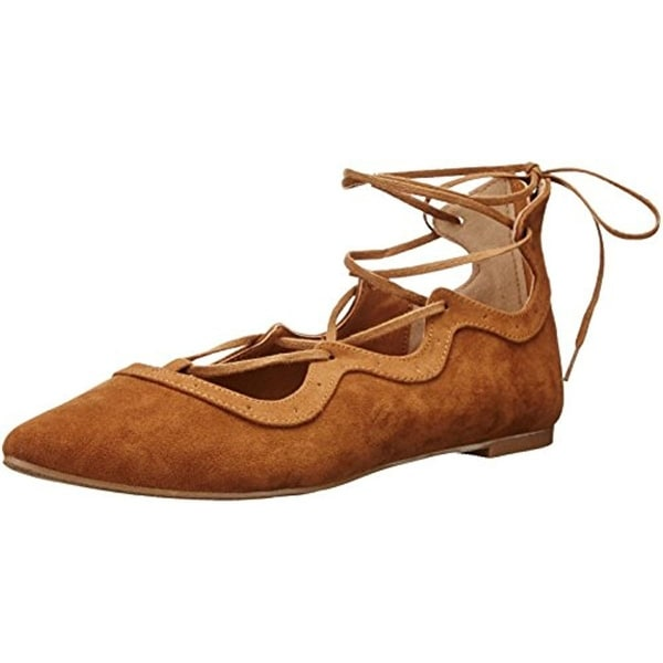 Jellypop Womens Maddie Skimmer Shoes Faux Suede Laces