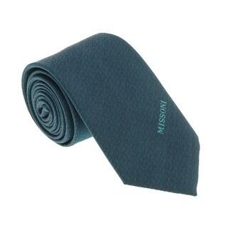 Missoni U5568 Green Barleycorn 100% Silk Tie - 60-3