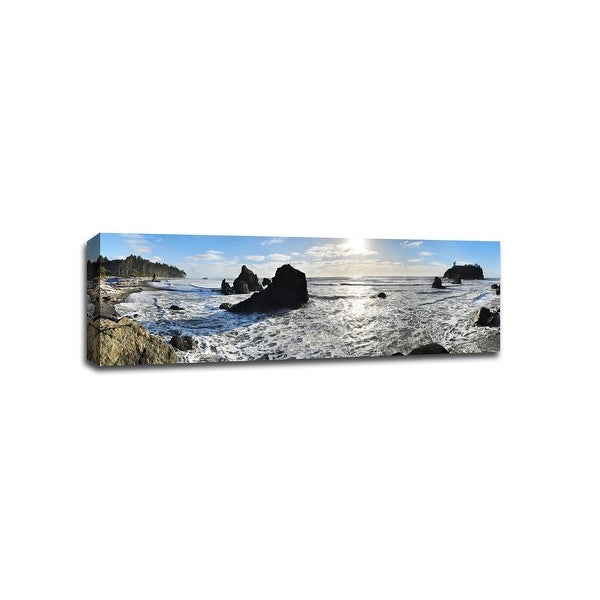Ruby Beach, Washington - Nature - 36x12 Gallery Wrapped Canvas Wall Art