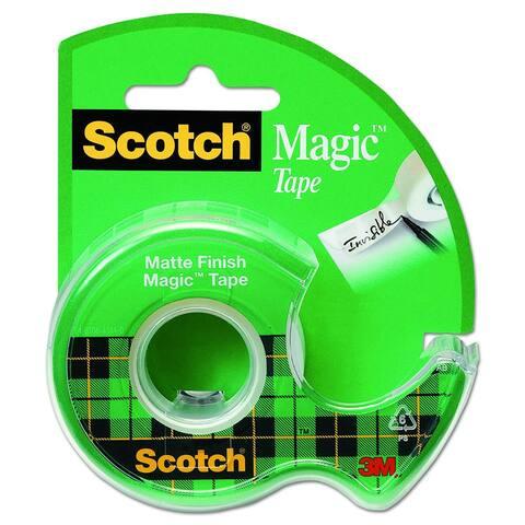 "Scotch 105 Magic Matte Finish Tape with Plastic Dispenser, 3/4"" x 300"", Matte Finish"