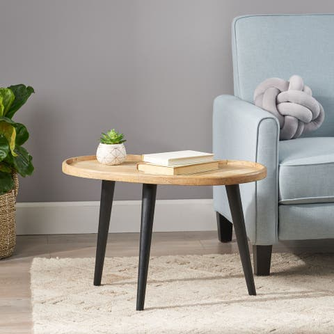 Catron Mango Wood Coffee Table by Christopher Knight Home
