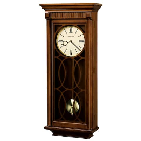 Howard Miller Kathryn Grandfather Clock Style Chiming Wall Clock with Pendulum, Charming, Vintage, Old World, Classic Design