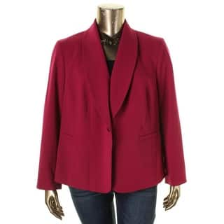 Nine West Womens Plus One-Button Blazer Shawl Collar Long Sleeves|https://ak1.ostkcdn.com/images/products/is/images/direct/256d76077e4b96161df88565abe10f1d140e74aa/Nine-West-Womens-Plus-One-Button-Blazer-Shawl-Collar-Long-Sleeves.jpg?impolicy=medium