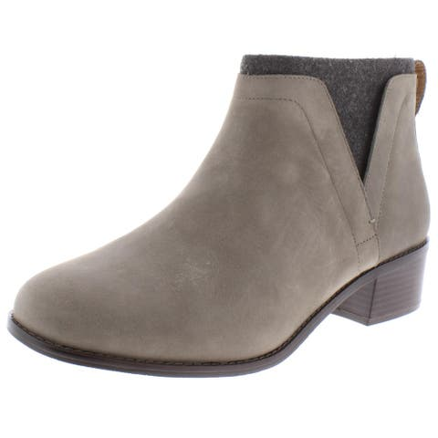 Vionic Womens Hope Joslyn Ankle Boots Nubuck Stacked