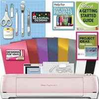 Cricut Explore Air 2 Machine Bundle - Beginner Guide, Tool Kit, Vinyl Pack, Designs & Project Inspiration
