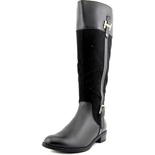Karen Scott Womens Deliee Leather Closed Toe Knee High Riding Boots Riding Bo...
