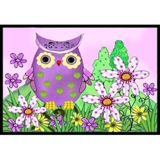 Carolines Treasures PJC1096JMAT Who Is Your Friend Owl Indoor & Outdoor Mat 24 x 36 in.