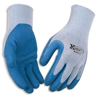 Kinco 1791-L Latex Palm Gripping Gloves, Large, Blue/Gray