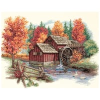 """Glory Of Autumn Counted Cross Stitch Kit-14""""X11"""" 14 Count"""