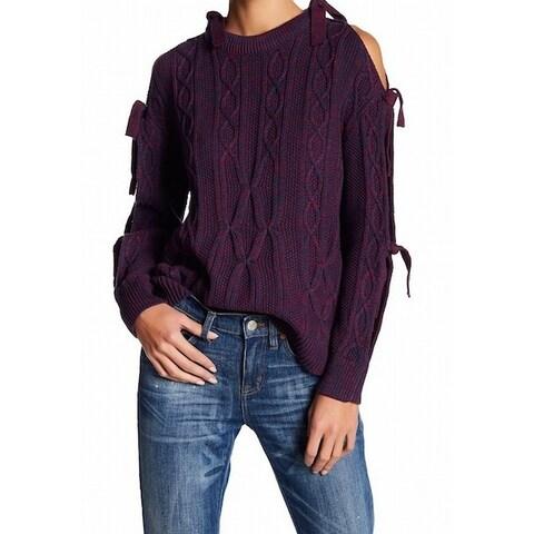 Project Naadam Pink Womens Tie SleevePullover Sweater