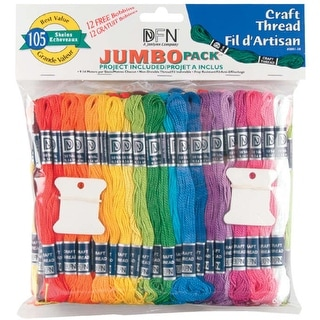 Craft Thread Jumbo Pack 9.9yd 105/Pkg-Assorted Colors