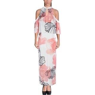 Elliatt Womens Maxi Dress Cold Shoulder Keyhole