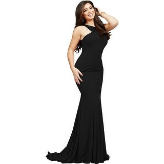 Jovani Studded Prom Formal Dress
