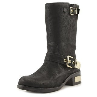 Vince Camuto Winchell Women  Round Toe Leather Black Mid Calf Boot