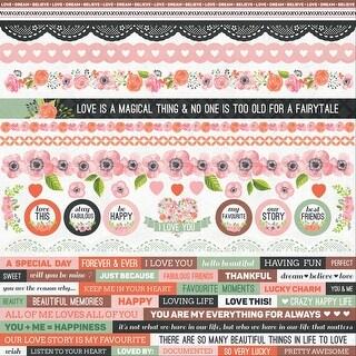 "True Love Cardstock Stickers 12""X12""-"