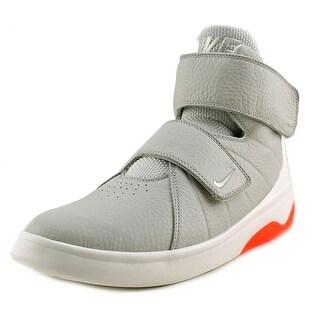 Nike Marxman Youth EW Round Toe Leather White Basketball Shoe