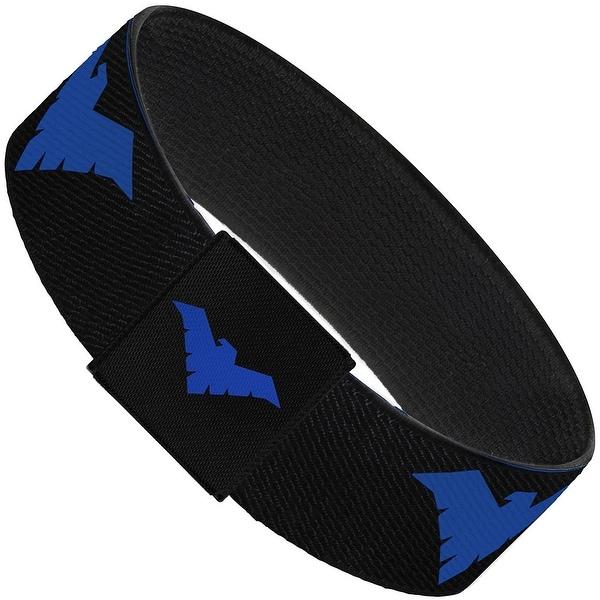 Nightwing Logo Black Blue Elastic Bracelet