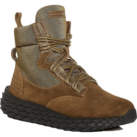 Giuseppe Zanotti Mens Urchin Combat Boots Suede Ankle - Caky