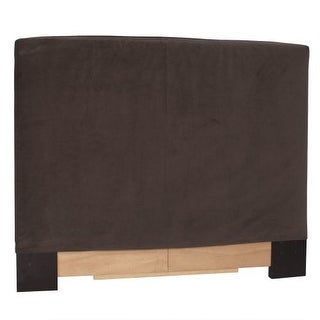 Howard Elliott Bella Chocolate Slipcovered Headboard Chocolate 100% Polyester Upholstery Headboard