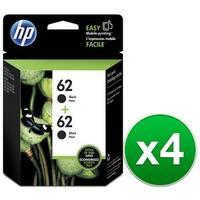 HP 62 2-Cartridges Black Original Ink Cartridges (T0A52AN)(4-Pack)