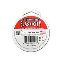Beadalon Elasticity .8mm Clear 25M
